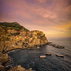 Sunset on Manarola, Cinque Terre, Italy