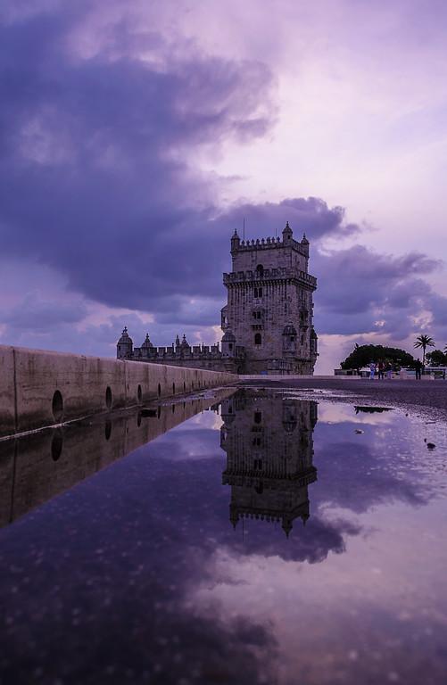 Purple Lisbon Tower Reflection Photography By MEssagez com