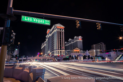 Light painting on the Las Vegas Strip.