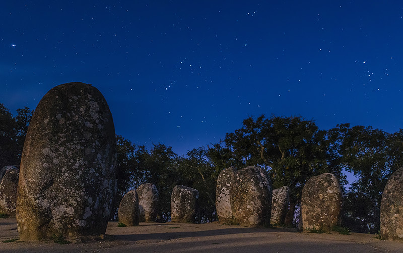 Portugal Cromlech of the Almendres Megalithic Complex Night Photography 13 By Messagez com