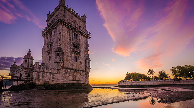 Original Lisbon Tower Purple Feelings Photography By Messagez com