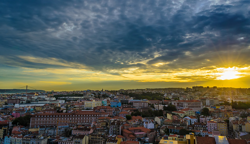 Lisbon Viewpoint Sunshine Photography 3 By Messagez com