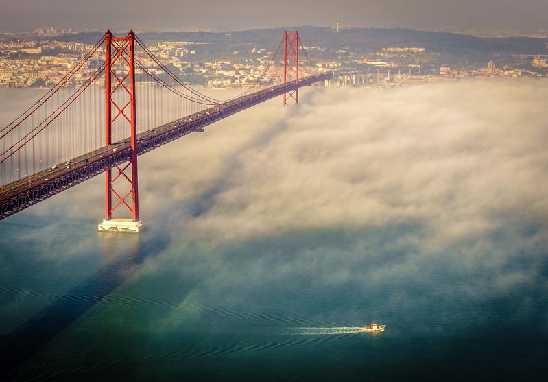 Original Lisbon 25th of April Bridge Landscape Photography 6 By Messagez com