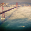 Original Lisbon 25th of April Bridge Landscape Photography 6 By Messagez com
