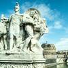 Vittorio Emmanuel II Bridge Statue, Rome, Italy
