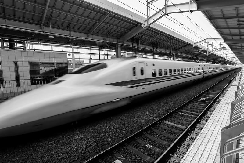 Bullet train, Kyoto, Japan.