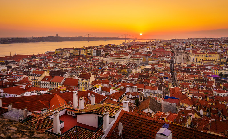 Inside The Lisbon Castle at Sunset Photography 3 By Messagez com