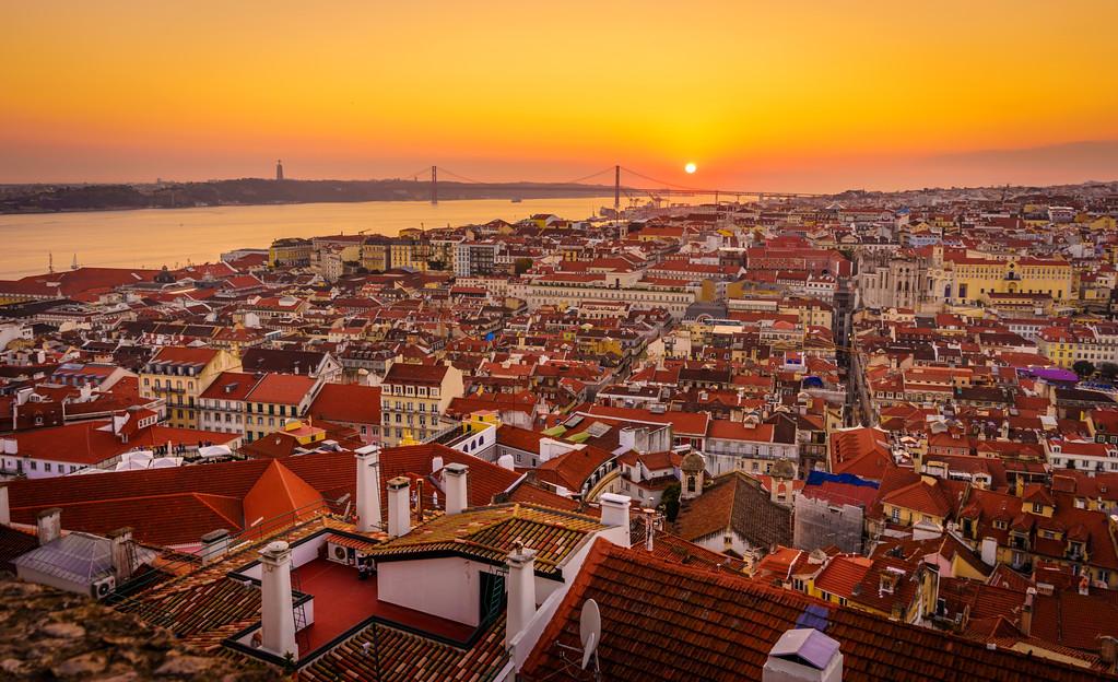 Inside The Lisbon Castle at Sunset Photography 3 By Messagez com