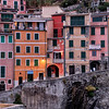 Colorful houses along the marina in Riomaggiore, Cinque Terre, Italy