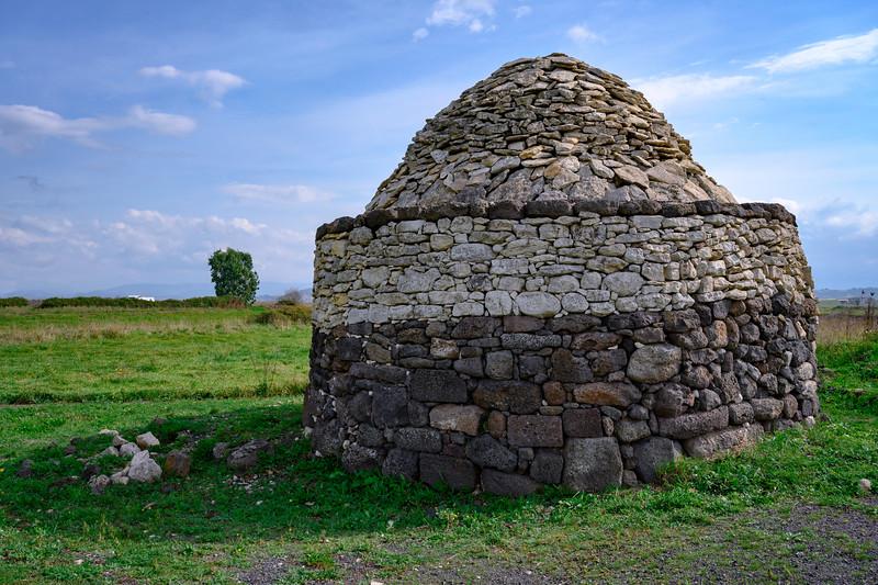 Small 18th century B.C. stone building at Santu Antine Nuragic Palace, Sardinia, Italy