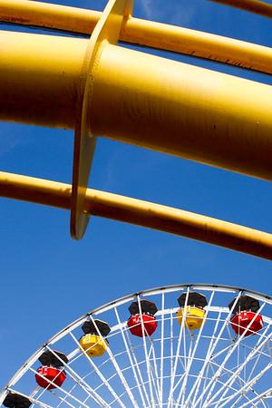 Ferris Wheel, Santa Monica Pier, California, USA