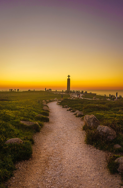 Pathway to Portugal Atlantic Ocean Sunset Viewpoint Photography By Messagez com