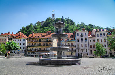 A fountain in Ljubljana
