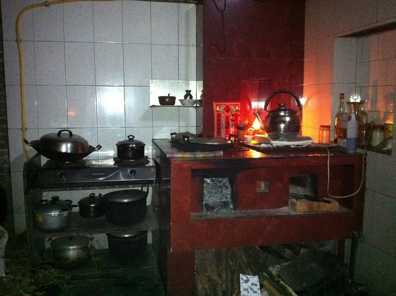 燒柴的灶頭