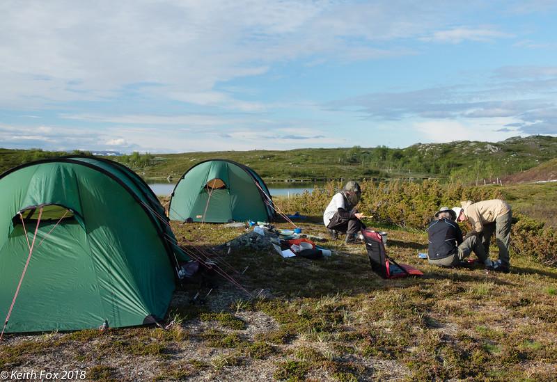 Lejr ved Aigertstugan