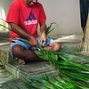 Weaving a man's basket used in the villages