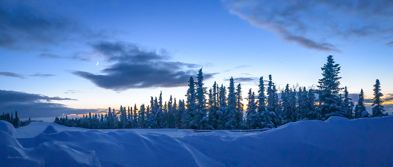 Sunset on a Cold Evening in Alaska