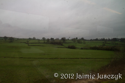 Looking out the train window almost at Windermere.