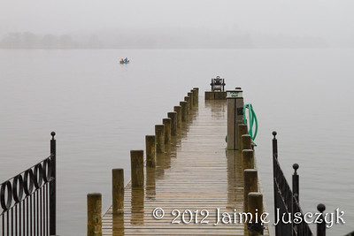 Then I braved the rain and went out to get a closer look at the lake.
