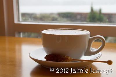Mmm, time for cappuccino and a view of the lake.