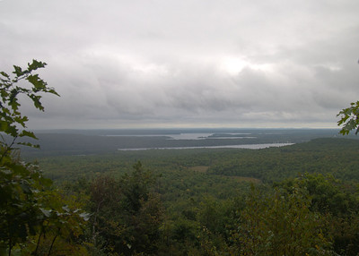 View from Round Top Trail looking towards Belgrade Lakes.