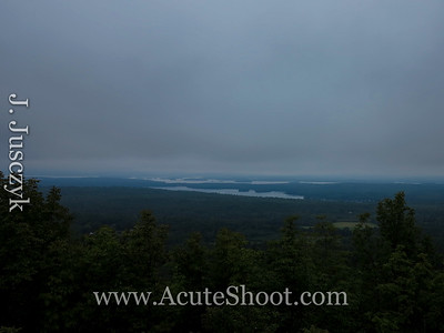 Cloudy view of Lake Winnipesaukee.
