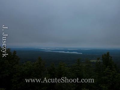 Cloudy view of Lake Winnipesaukee.