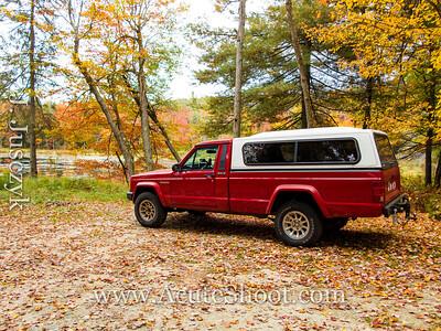 Jeep at Morey Pond.