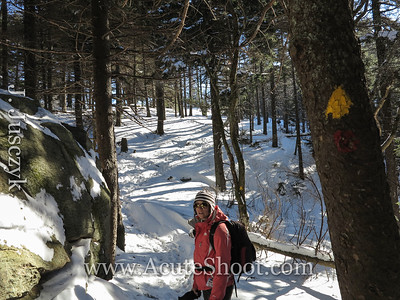 An easy trail to follow, very well marked even if you were the first one up after a snow.