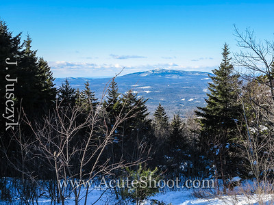 Looking at Mount Monadnock from the top of Pack Monadnock.