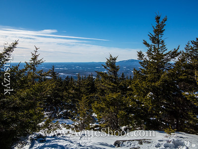 View of Mount Monadnock from North Monadnock. It took us 1.5 hours from Pack M to North Pack M.