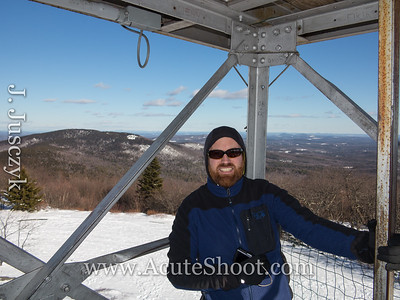 Steve on the fire tower.