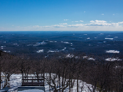 The very top was closed off but we still had great all around views above the tree line up in the fire tower stairs.