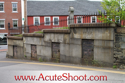 Portsmouth, New Hampshire May 2012 Tombs along the road.