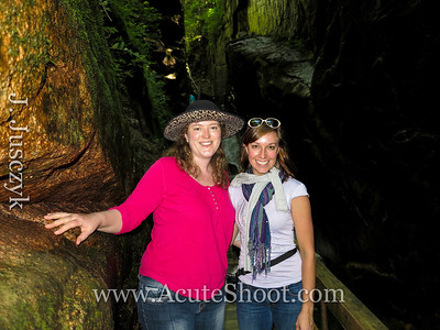 Eve and I in the Flume Gorge.