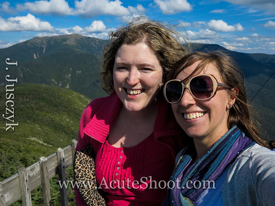 Eve and I on the top of Cannon Mountain.