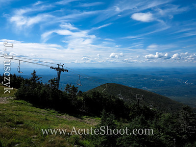 View of another ski lift on Cannon Mountain.