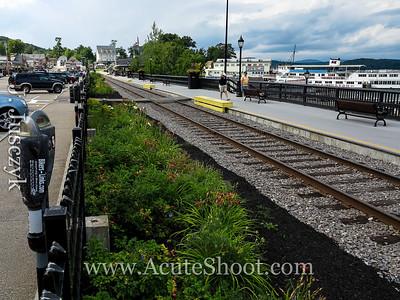 The railroad tracks.