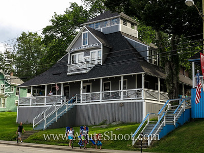 Old summer houses in Weirs Beach.