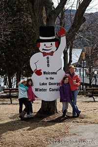 The Lake George Winter Carnival Snowmen around the Village.