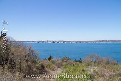 View of Narragansett Bay toward South Kingstown. April 2013