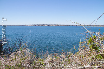 View of Narragansett Bay toward South Kingstown. April 2013