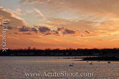 January 2013 Sunset from Conimcut Point Park, Warwick.
