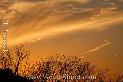 January 2013 Sunset at Conimicut Point, Warwick.