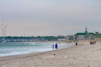 23rd June 2013 People walking by the Dunes Club, Narragansett Beach, RI.