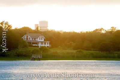 23rd June 2013 Sunset over the lagoon. Narrgansett Beach, RI.