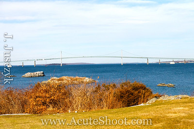 Looking out to the Newport Bridge from Jamestown, RI
