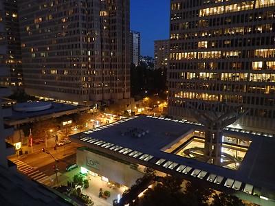 Morning view from Hyatt Embarcadero
