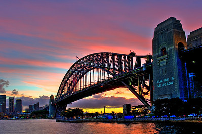 Harbour Bridge at Sunset