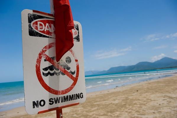 Beautiful Australian beaches and very few places to swim :(